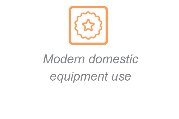 modern domestic equipment use