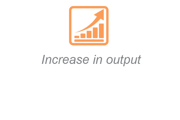 increase in output