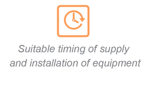 Suitable timing of supply and installation of equipment